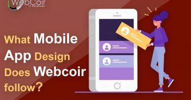 WHAT MOBILE APP DESIGN DOES WEBCOIR FOLLOW?
